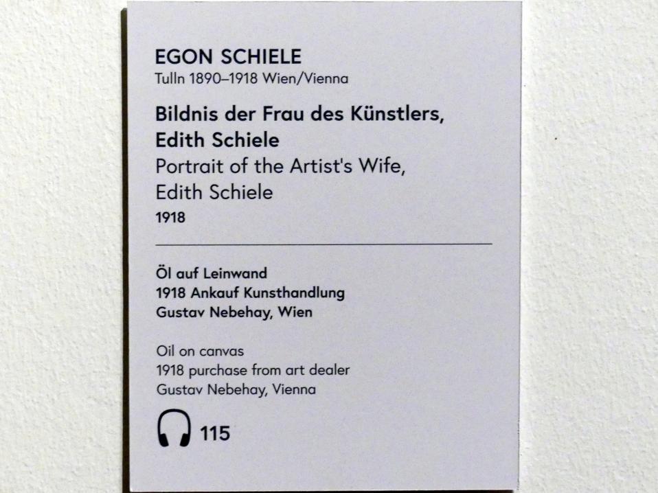 Egon Schiele: Bildnis der Frau des Künstlers Edith Schiele, 1918, Bild 2/2