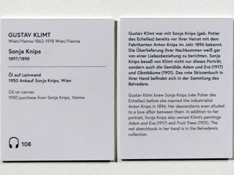 Gustav Klimt: Sonja Knips, 1897 - 1898, Bild 2/2