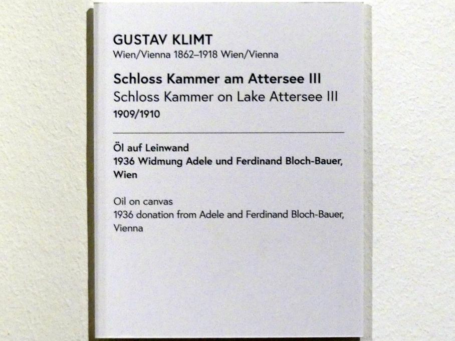 Gustav Klimt: Schloss Kammer am Attersee III, 1909 - 1910, Bild 2/2