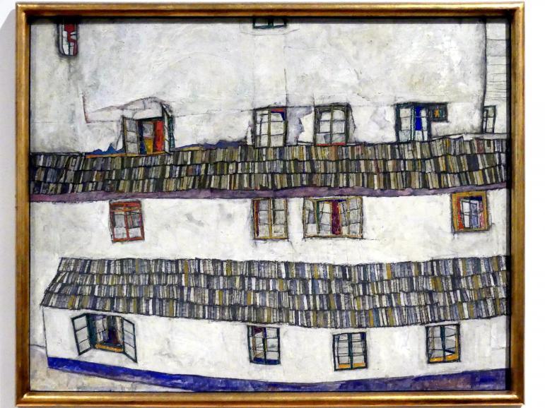Egon Schiele: Hauswand (Fensterwand), 1914