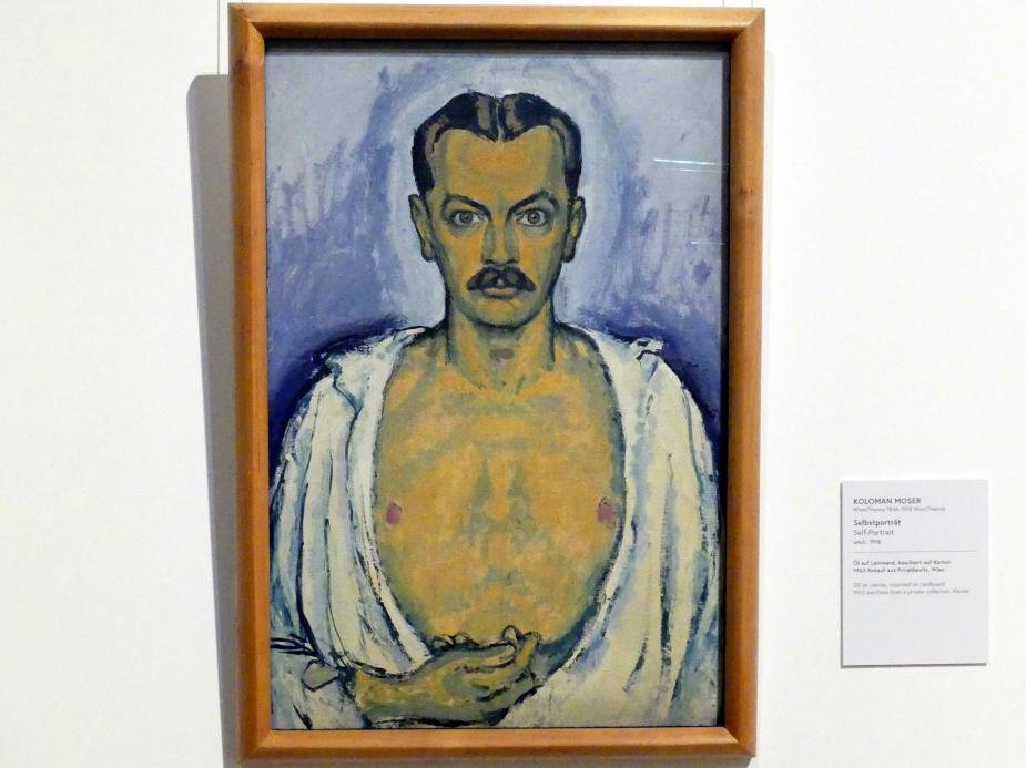 Koloman Moser: Selbstporträt, um 1916
