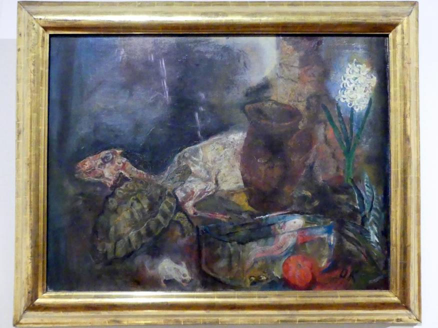 Oskar Kokoschka: Stillleben mit Hammel und Hyazinthe, 1910