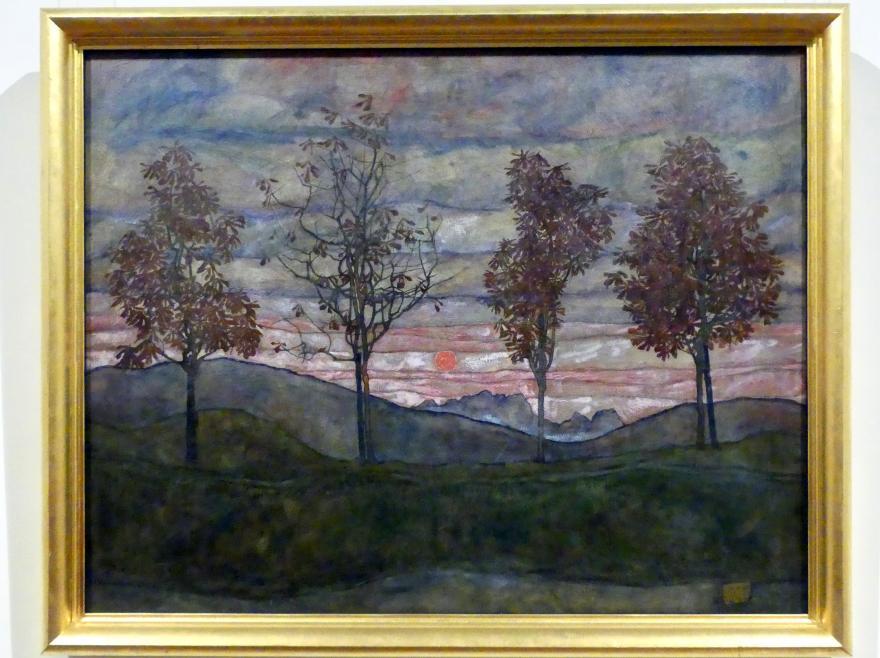 Egon Schiele: Vier Bäume, 1917