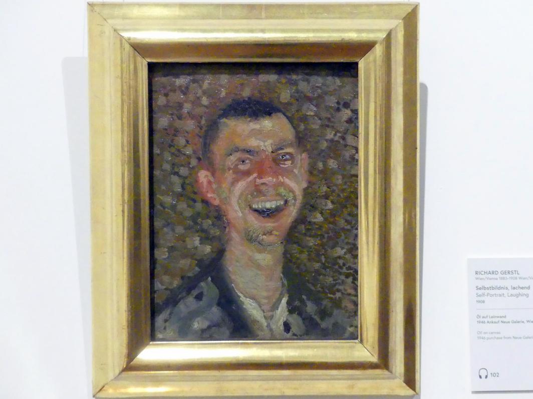Richard Gerstl: Selbstbildnis, lachend, 1908