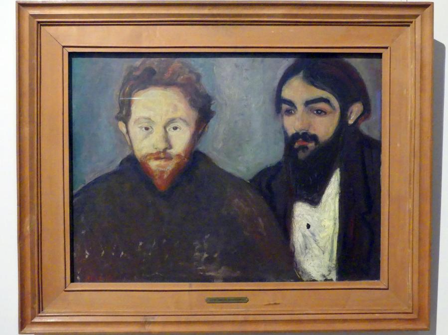 Edvard Munch: Der Maler Paul Herrmann und der Arzt Paul Contard, 1897