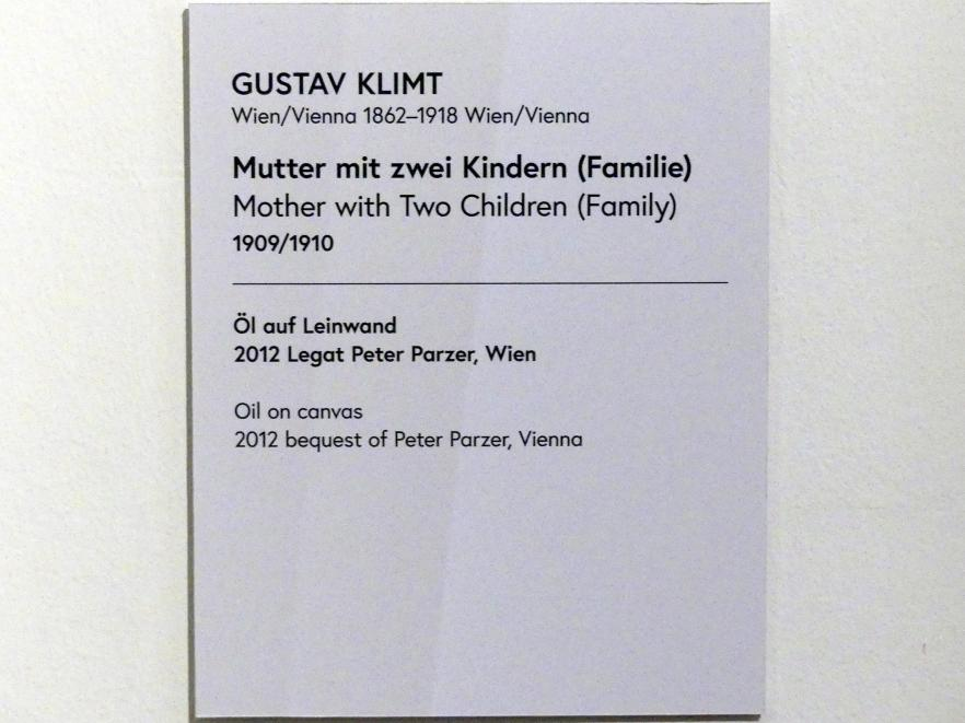 Gustav Klimt: Mutter mit zwei Kindern (Familie), 1909 - 1910, Bild 3/3