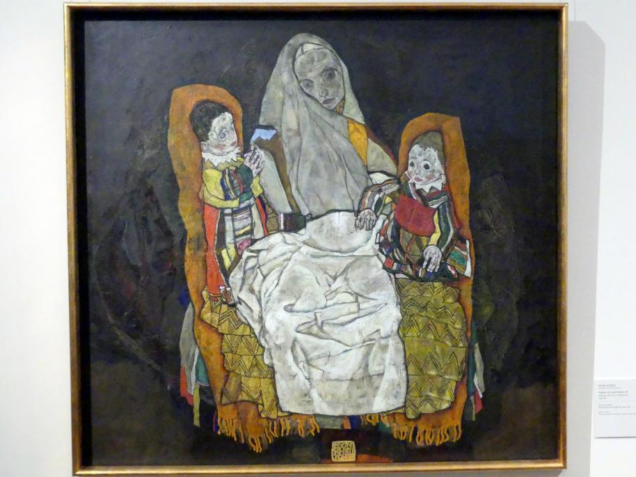 Egon Schiele: Mutter mit zwei Kindern III, 1915 - 1917