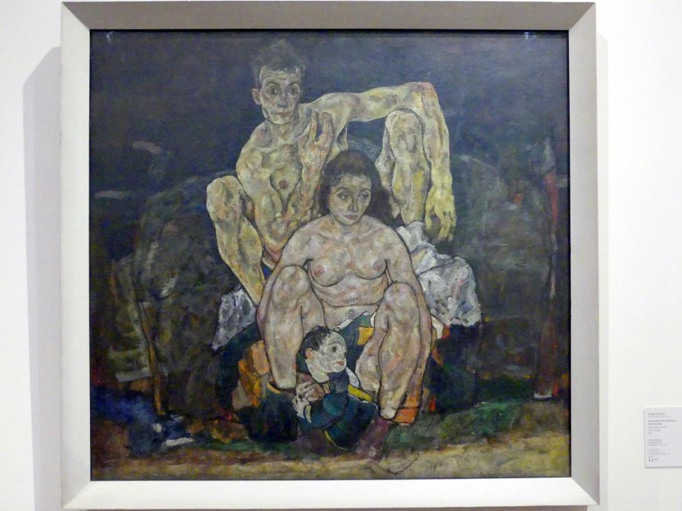Egon Schiele: Kauerndes Menschenpaar (Die Familie), 1918