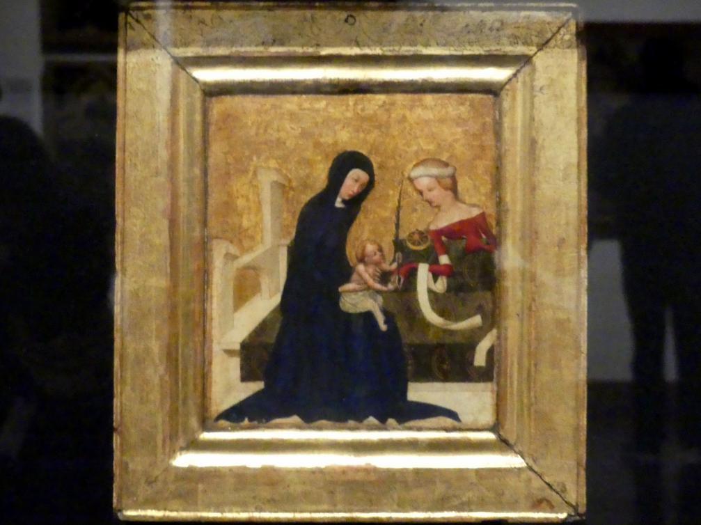 Meister von Heiligenkreuz: Mystische Vermählung der hl. Katharina, um 1415 - 1420