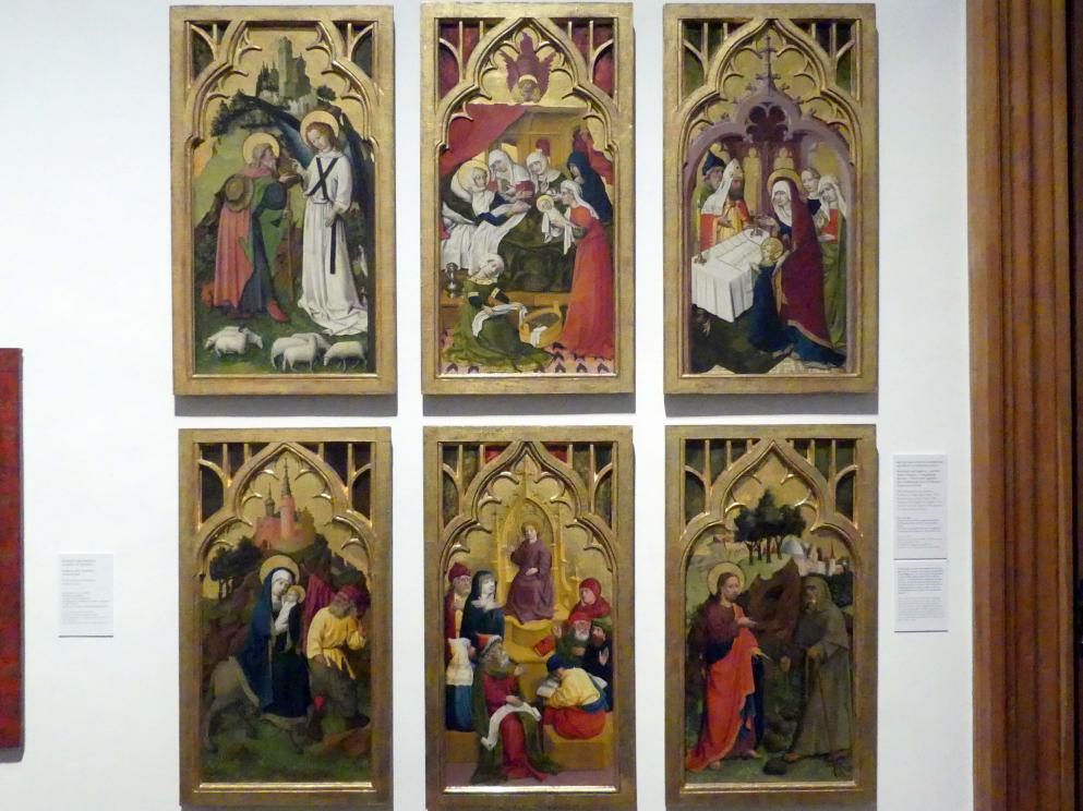 Meister von Schloss Lichtenstein: Tafeln eines Doppelflügelaltars, um 1445