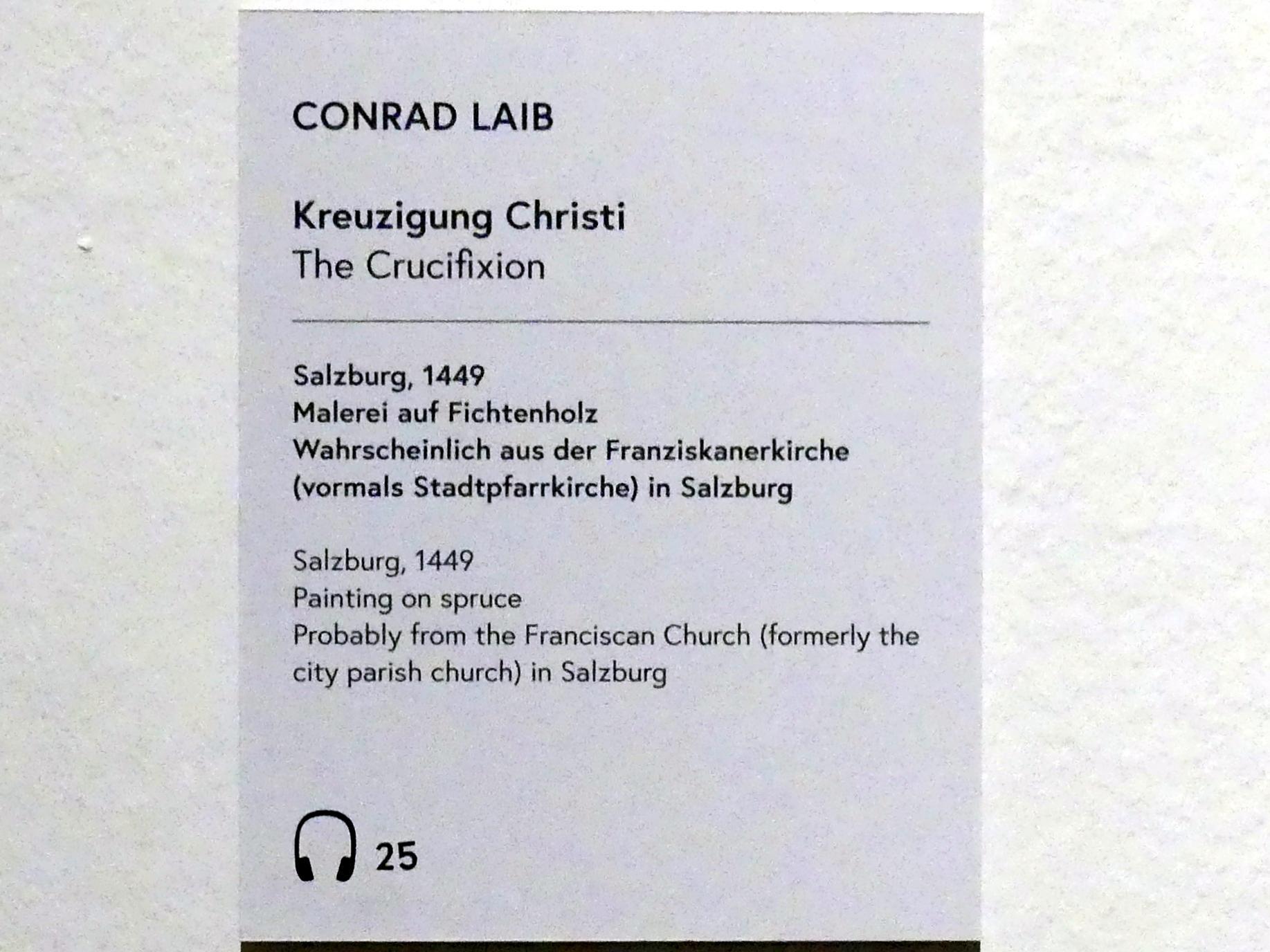 Conrad Laib: Kreuzigung Christi, 1449