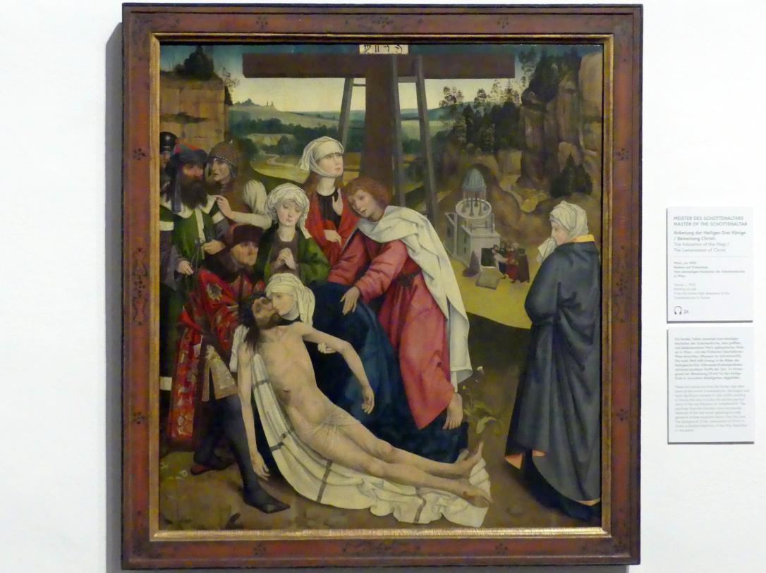 Meister des Wiener Schottenaltars: Anbetung der Heiligen Drei Könige, Beweinung Christi, Um 1470