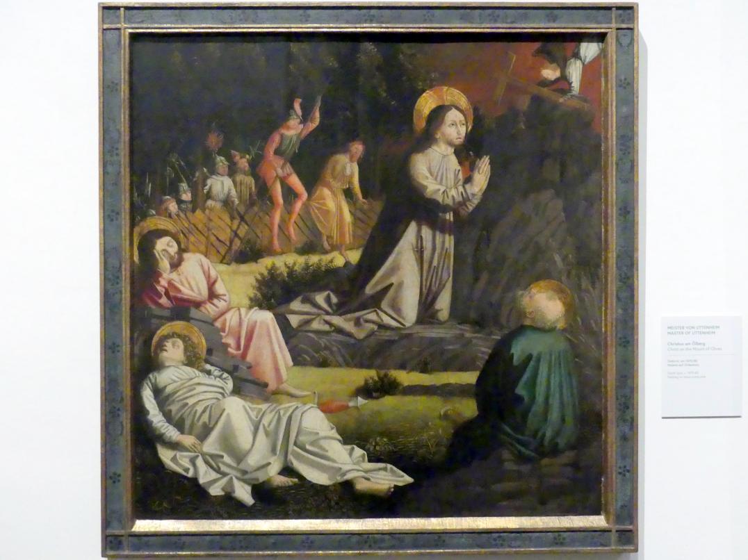 Meister von Uttenheim: Christus am Ölberg, 1470 - 1480
