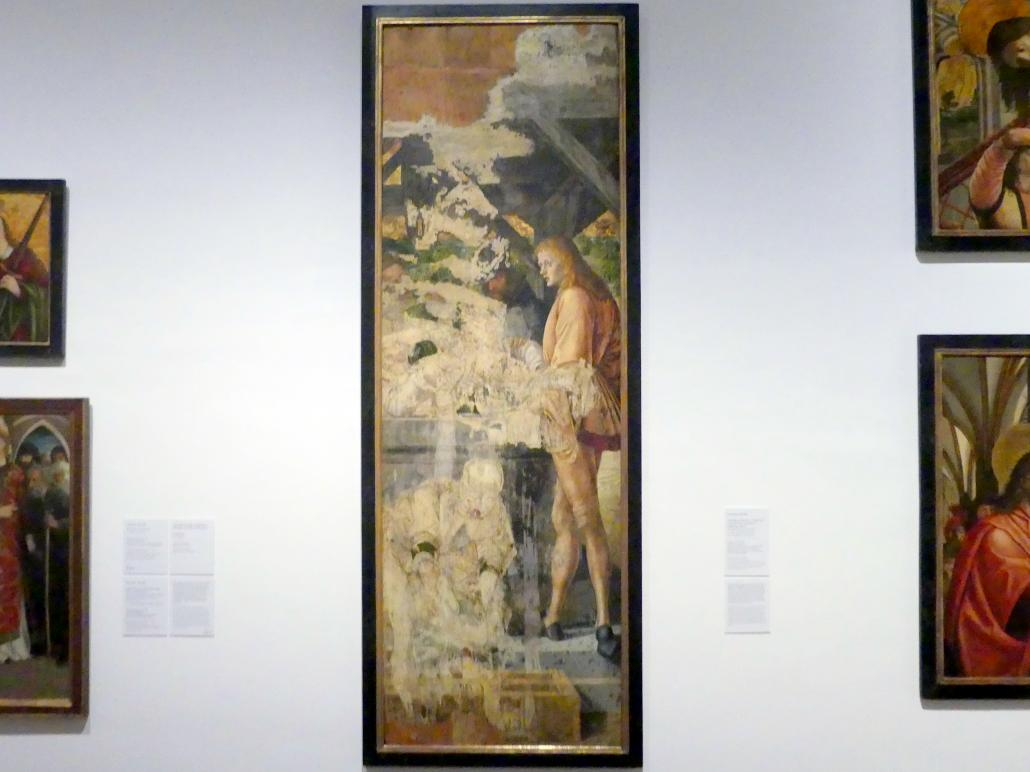 Michael Pacher: Josef wird in den Brunnen geworfen, vor 1497