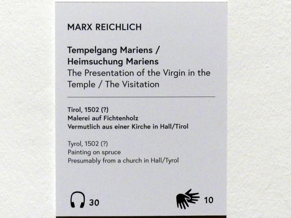 Marx Reichlich: Mariä Heimsuchung, 1502, Bild 2/2