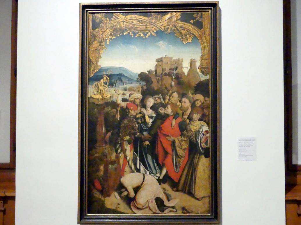 Meister des Krainburger Altars: Martyrium der Heiligen Cantius, Cantianus und Cantianilla, Um 1510