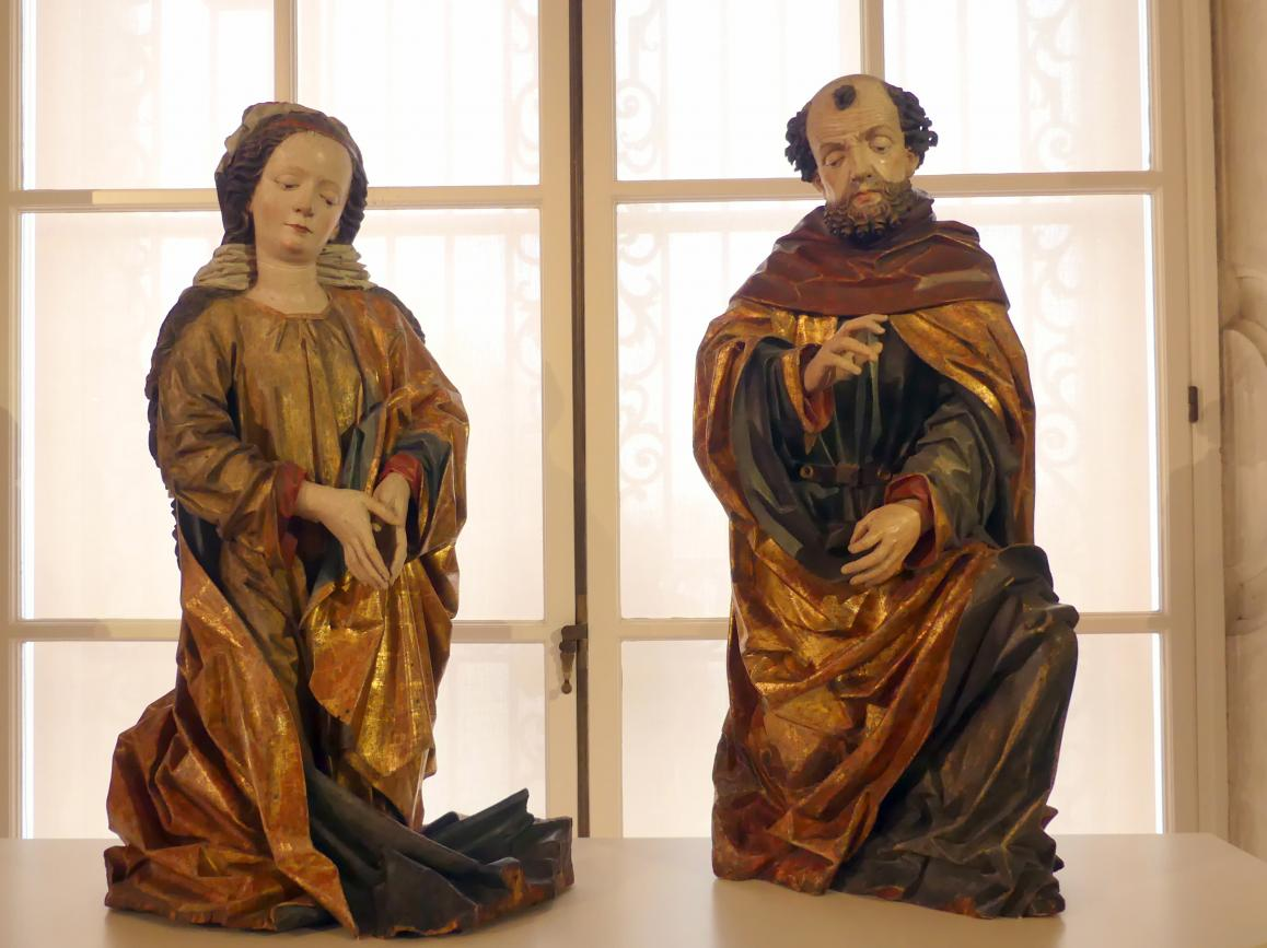 Hans Klocker: Maria und Josef einer Anbetungsgruppe, um 1486 - 1490