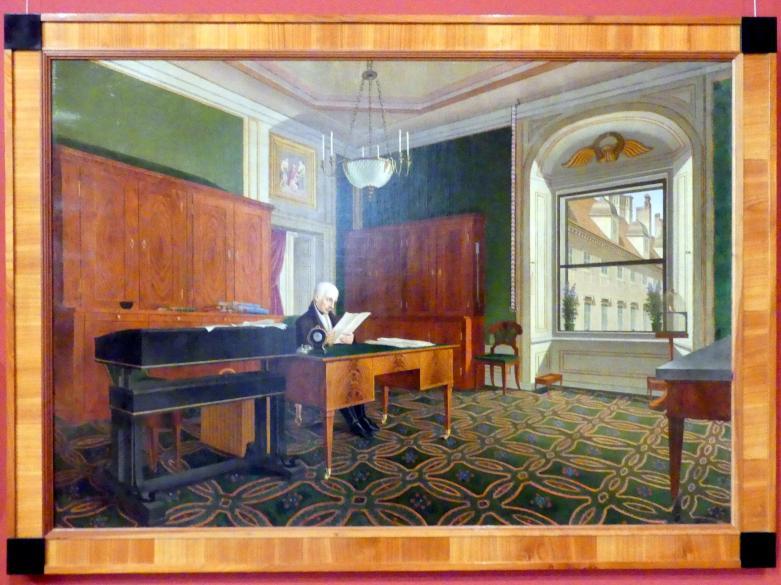 Johann Stephan Decker: Kaiser Franz II. (I.) in seinem Arbeitszimmer, nach 1821