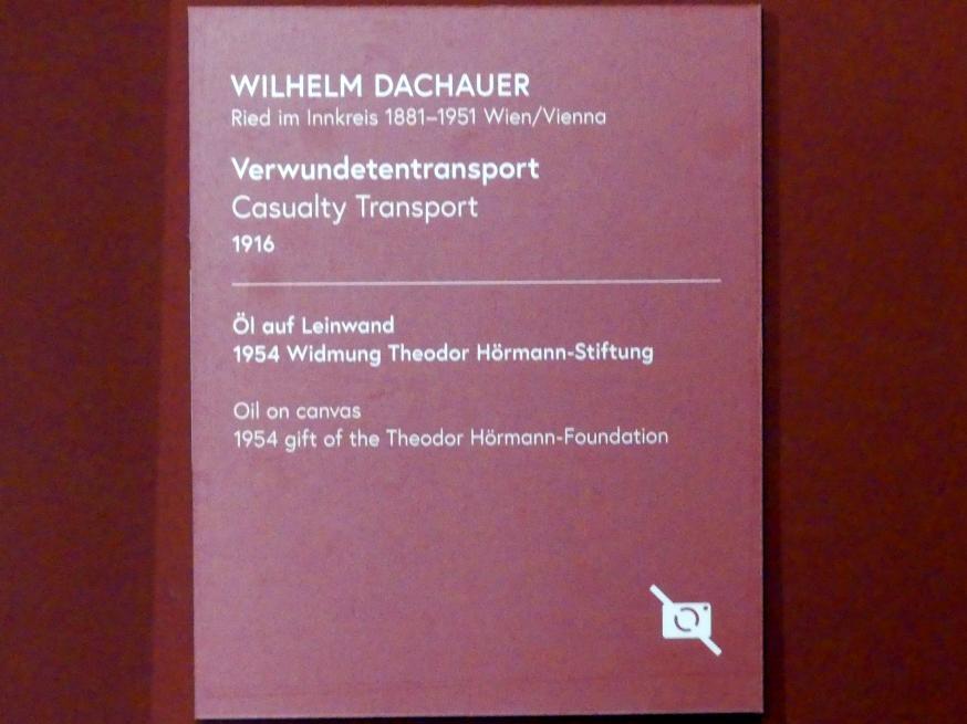 Wilhelm Dachauer: Verwundetentransport, 1916