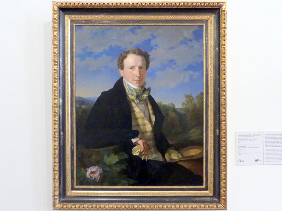 Ferdinand Georg Waldmüller: Selbstportrait in jungen Jahren, 1828