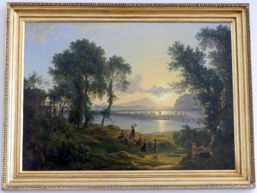 Josef Rebell: Sonnenuntergang über den Campi Flegrei gegen die Inseln Procida und Ischia, 1819
