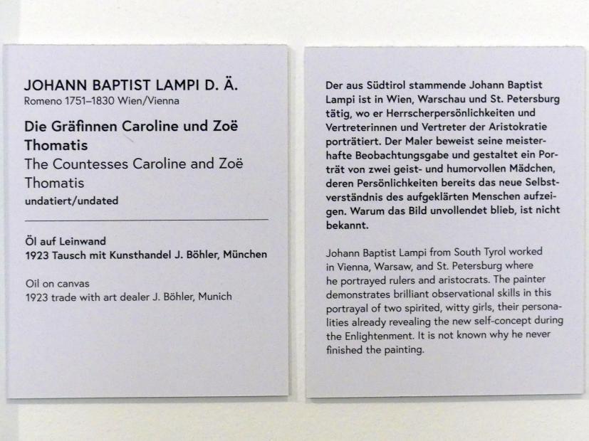 Johann Baptist Lampi der Ältere: Die Gräfinnen Caroline und Zoë  Thomatis, Undatiert, Bild 2/2