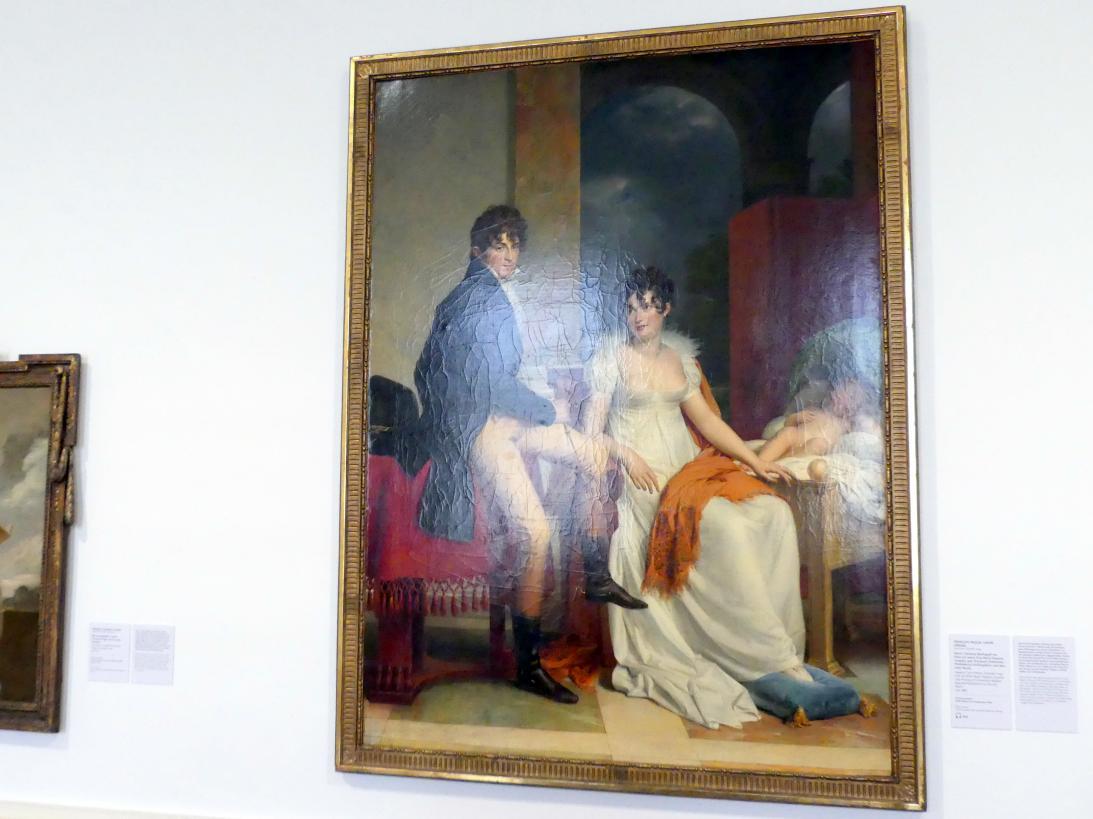 François Gérard: Moritz Christian Reichsgraf von Fries mit seiner Frau Maria Theresia Josepha, geb. Prinzessin Hohenlohe-Waldenburg-Schillingfürst, und dem Sohn Moritz, Um 1805