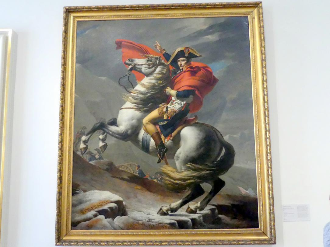Jacques-Louis David: Napoleon am Großen St. Bernhard, 1801