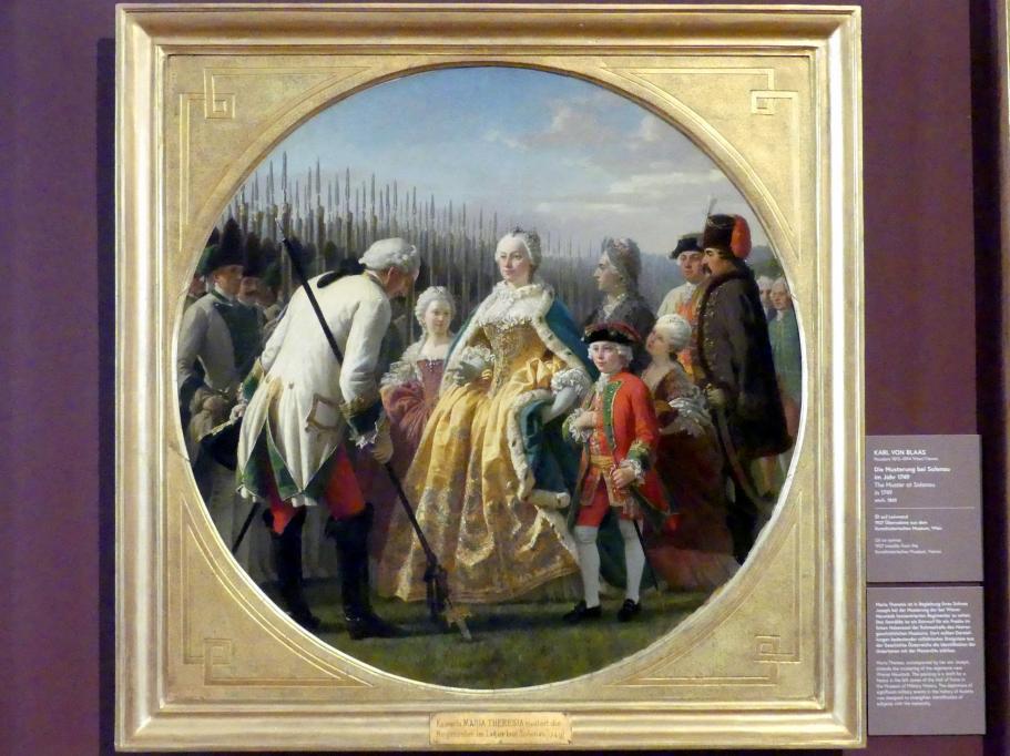 Karl von Blaas: Die Musterung bei Solenau im Jahr 1749, um 1865