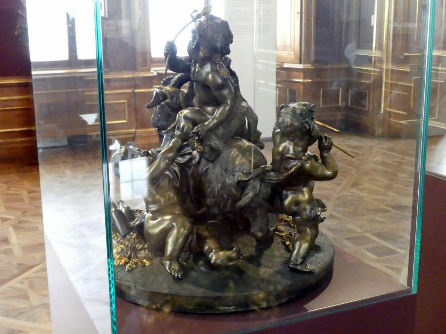 Viktor Oskar Tilgner: Tafelaufsatz: Ziegenbock mit Amoretten, um 1890