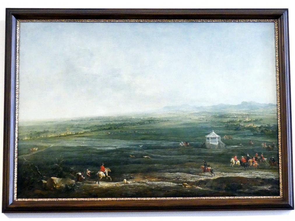 Johann Christian Brand: Laxenburg vom Münkendorfer Lusthaus gegen Südwest, 1758
