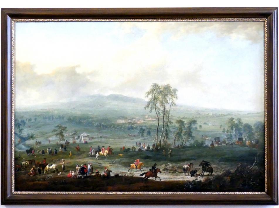 Johann Christian Brand: Laxenburg von der Schneiderau gegen Guntramsdorf und Mödling, 1759