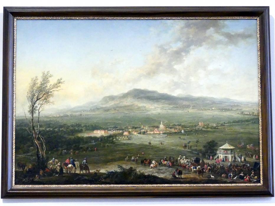 Johann Christian Brand: Laxenburg vom Lusthaus auf der Hanawiese gegen Mödling, 1758