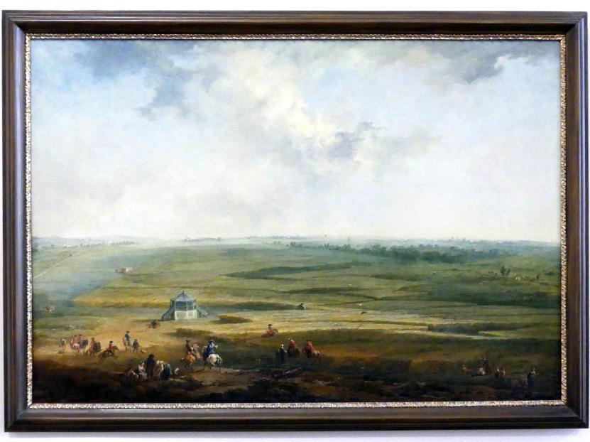 Johann Christian Brand: Laxenburg vom Hayd-Lusthaus gegen Maria Lanzendorf, 1758