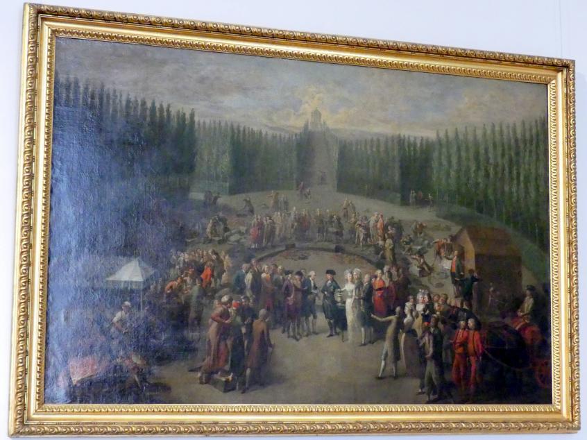 Martin Knoller: Die Grundsteinlegung des Concordiatempels in Laxenburg, 1795