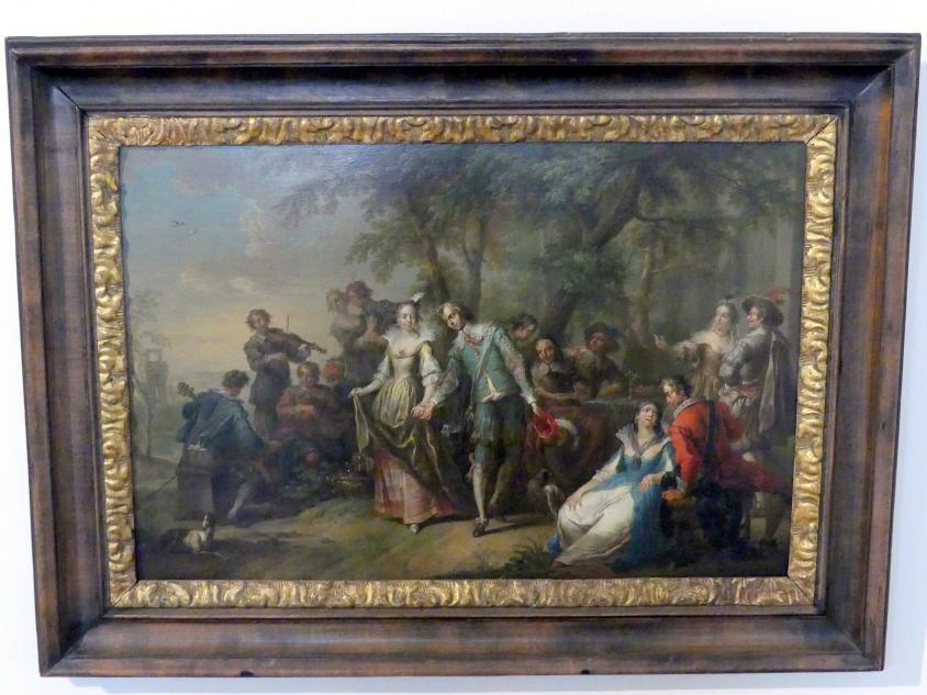 Franz Christoph Janneck: Unterhaltung im Freien mit Tanz, um 1740