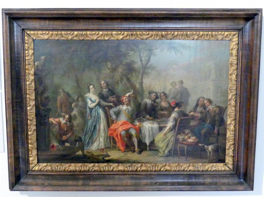 Franz Christoph Janneck: Unterhaltung im Freien mit Wein und Gesang, um 1740