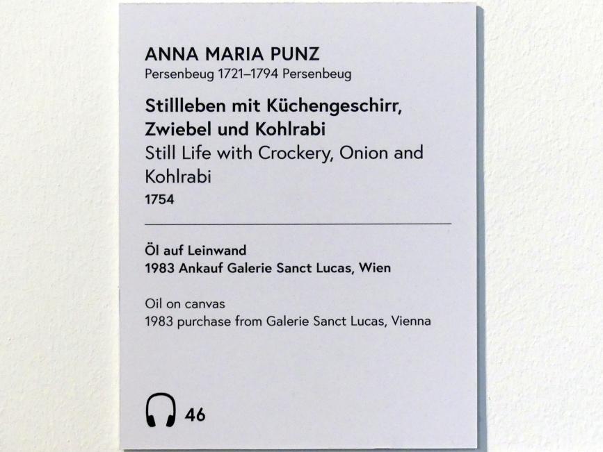 Anna Maria Punz: Stillleben mit Küchengeschirr, Zwiebel und Kohlrabi, 1754, Bild 2/3