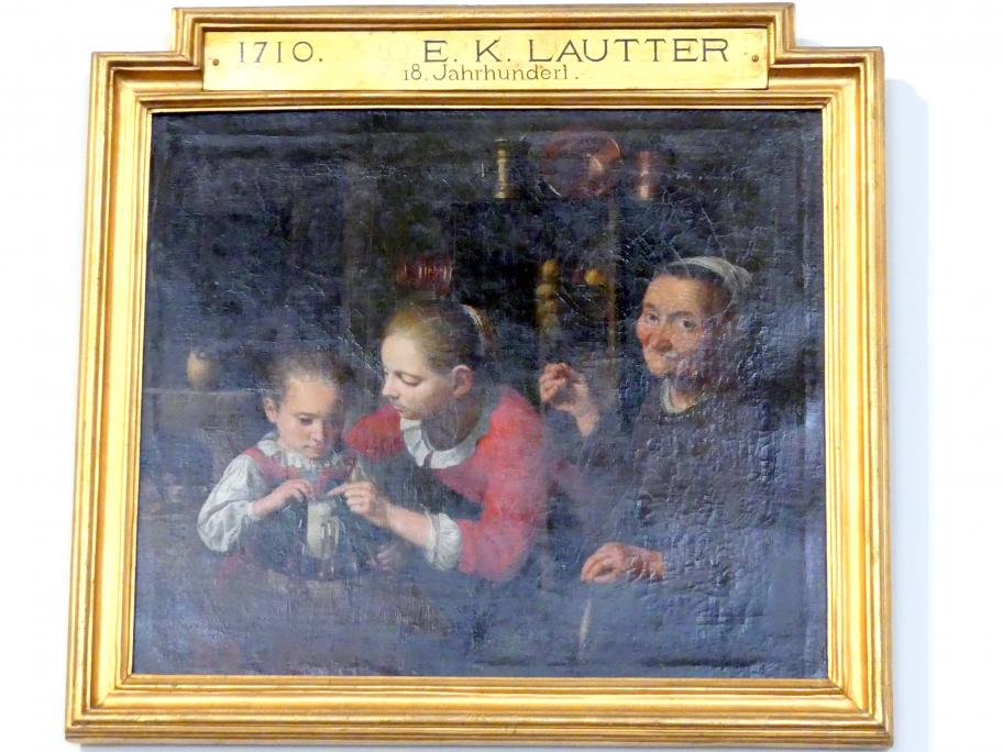 E. K. Lautter: Die Spitzenklöpplerin, um 1700 - 1750