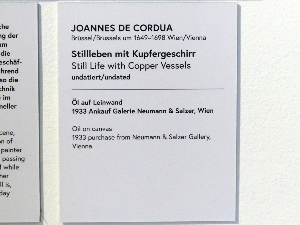 Joannes de Cordua: Stillleben mit Kupfergeschirr, Undatiert, Bild 2/2