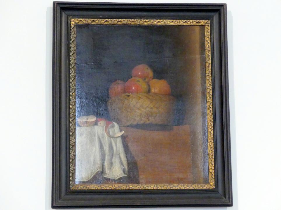 Anna Maria Punz: Stillleben mit Apfelkorb, 1754