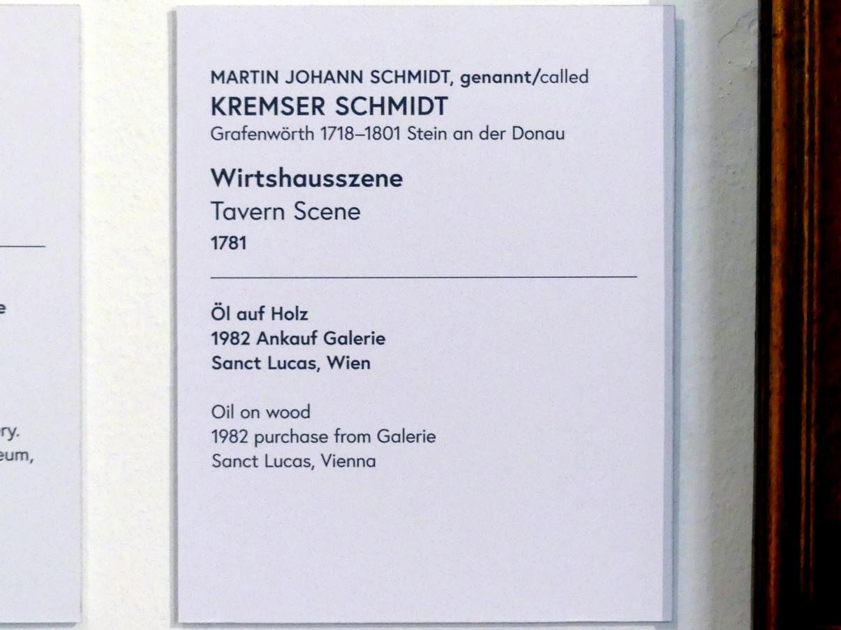 Martin Johann Schmidt (Kremser Schmidt): Wirtshausszene, 1781, Bild 2/2