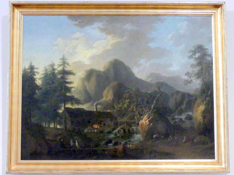Martin von Molitor: Landschaft mit Hammerwerk, um 1800