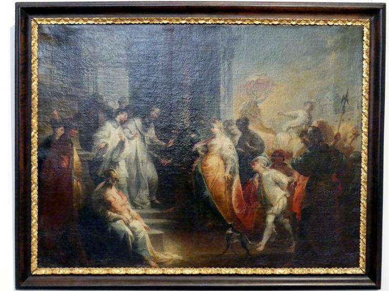Johann Wolfgang Baumgartner: Die Zurückweisung der Kaiserin Eudoxia durch den heiligen Johannes Chrysostomus, Um 1750