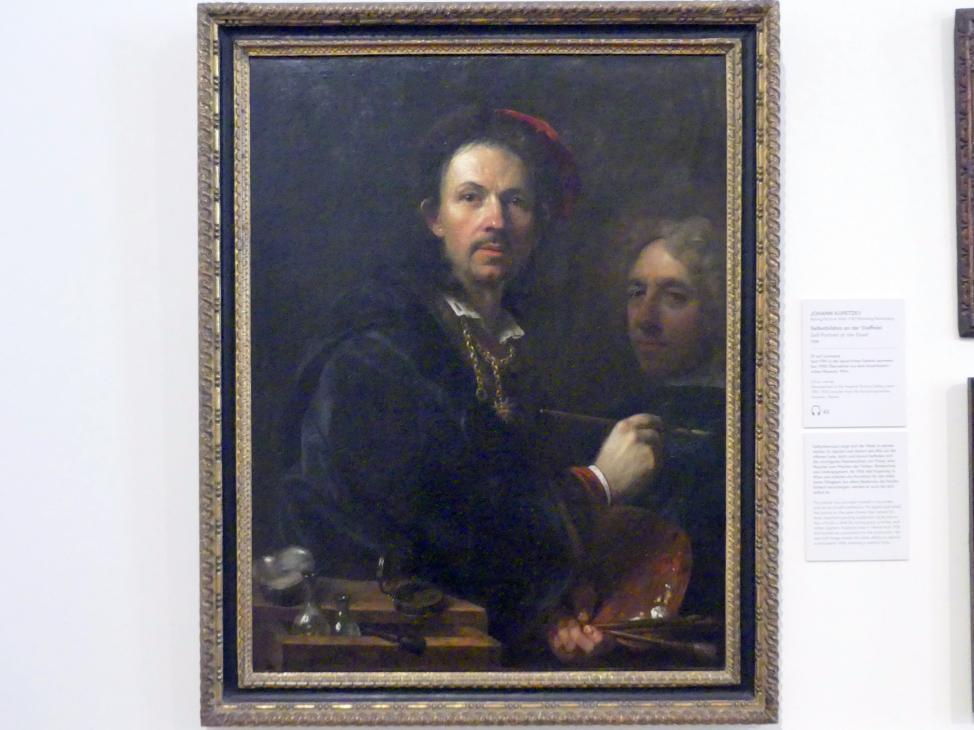 Johann Kupetzky: Selbstbildnis an der Staffelei, 1709