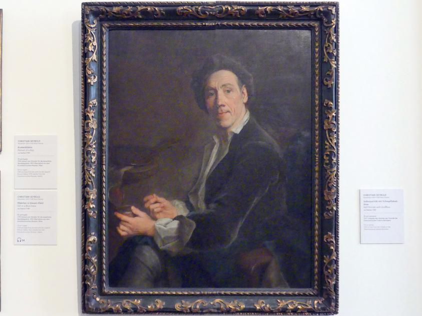 Christian Seybold: Selbstportrait mit Schnupftabakdose, vor 1745