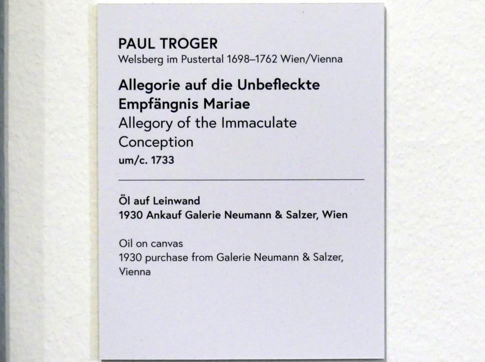 Paul Troger: Allegorie auf die Unbefleckte Empfängnis Mariae, um 1733, Bild 2/2