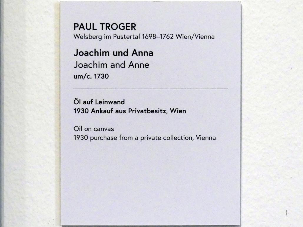 Paul Troger: Joachim und Anna, um 1730, Bild 2/2