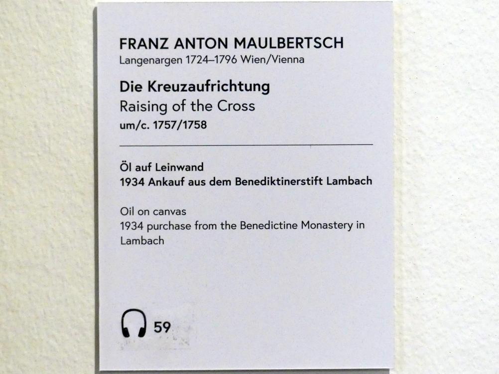 Franz Anton Maulbertsch: Die Kreuzaufrichtung, Um 1757 - 1758