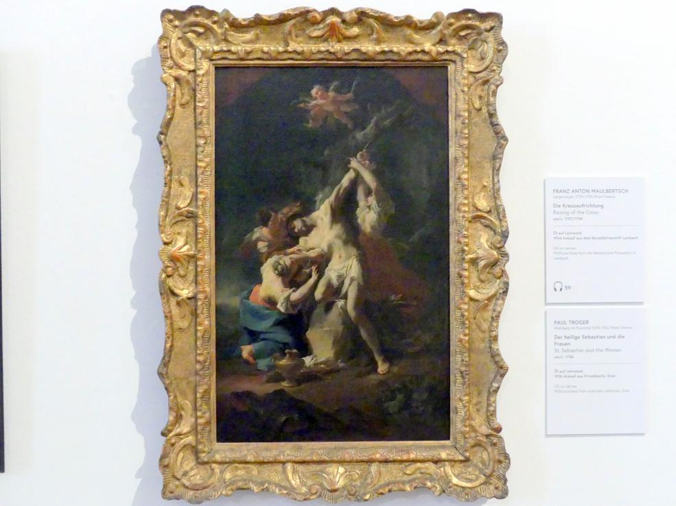 Paul Troger: Der heilige Sebastian und die Frauen, Um 1746